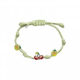 WOOFIE, 925, ασημένιο, παιδικό, πράσινο, βραχιόλι, με, πράσινο, μήλο, κεράσι, &, άσπρο, επιπλατίνωμα,