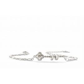 silverline, ασημένιο, γυναικείο  βραχιόλι , καδενωτό ,με σταυρό, ζιργκόν, άσπρο επιπλατίνωμα ή κίτρινο επιχρύσωμα χωρίς νικέλιο.