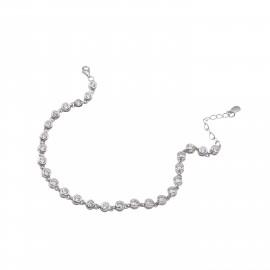 Silverline, ασημένιο, γυναικείο, βραχιόλι, ριβιέρα, με, ζιργκόν, &, άσπρο, επιπλατίνωμα, 18+3,5cmExt.Chain,