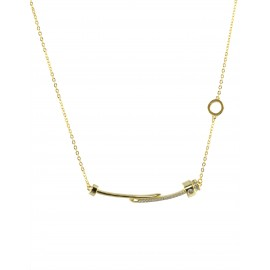 silverline, γυναικείο, ασημένιο κολιέ με ζιργκόν , λευκό επιπλατίνωμα ή κίτρινο χρύσωμα.