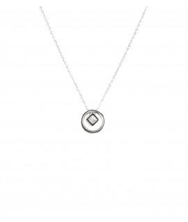 Silverline, ασημένιο, γυναικείο κολιέ με ζιργκόν και άσπρο επιπλατίνωμα ή κίτρινο χρύσωμα, χωρίς νικέλιο
