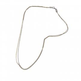 silverline, ασημένιο, γυναικείο  κολιέ με άσπρο επιπλατίνωμα χωρίς νικέλιο