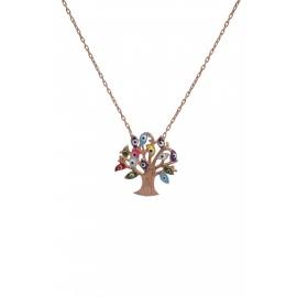 """Γυναικείο κολιέ """"δέντρο ζωή"""" με μάτια βασκανίας"""