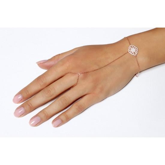 Γυναικείο Βραχιόλι με Δαχτυλίδι