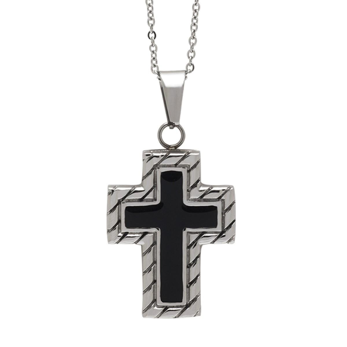Ανδρικό Κολιέ με σταυρό - ΚΟΛΙΕ - 0330276701 35879309c18