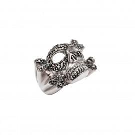 Δαχτυλίδι γυναικείο με νεκροκεφαλή