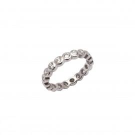 Ασημένιο Ολόβερο γυναικείο δαχτυλίδι