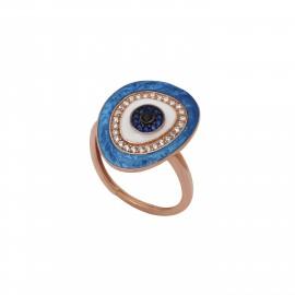 δαχτυλίδι με μάτι βασκανίας
