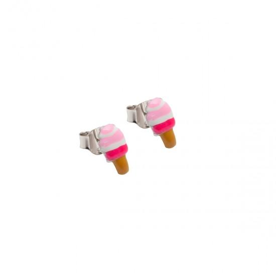 Ασημένια σκουλαρίκια woofie