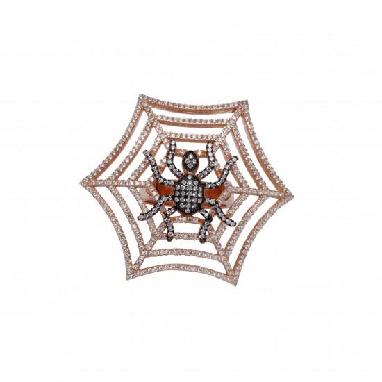 Γυναικείο Δαχτυλίδι - Ιστός με Αράχνη